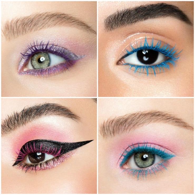 Urban Decay Double Team Special Effect Color Mascara makeup looks